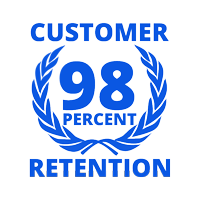 98 percent customer rention from customer service