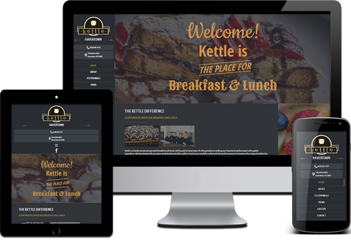 picture of a breakfast and lunch website